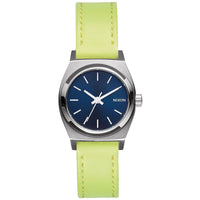 Nixon A509-2080 Ladies The Small Time Teller Leather Watch