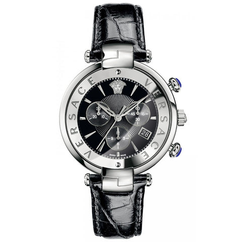 Versace VAJ010016 Revive Chronograph Unisex Leather Watch
