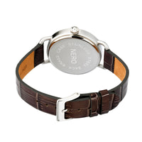 Nero 96 Nuovo Unisex Smoke Italian Leather Strap Quartz Watch