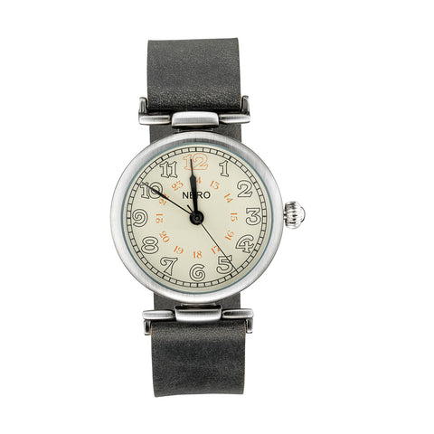 Nero 94 Gatsby Unisex Smoke Leather Strap Quartz Watch