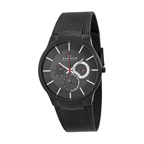 Skagen  809XLTBB Aktiv Men's Multifunction Black Titanium Watch
