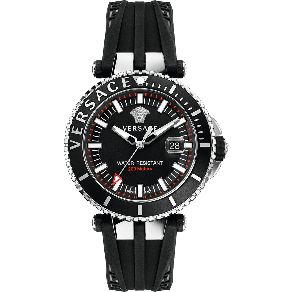 Versace VAK010016 V-Race Diver Men's Rubber Watch