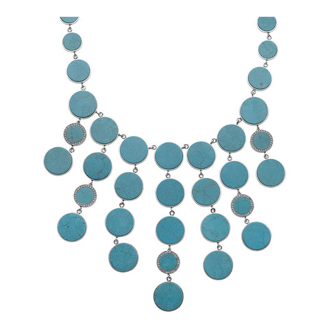 Michael Kors MKJ2436040 Turquoise Bib Ladies Necklace
