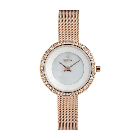 Obaku V146LEVWMV Ladies Stainless Steel Mesh Strap Watch