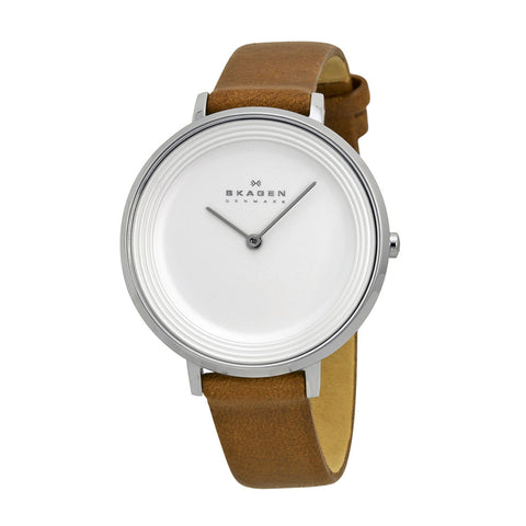 Skagen SKW2214 Ladies Ditte Brown Leather Strap Watch