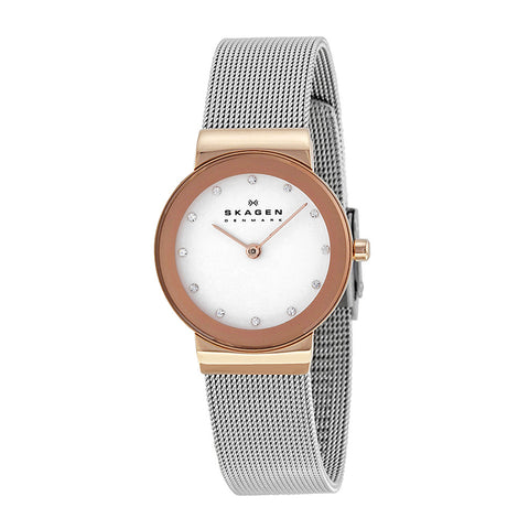 Skagen 358SRSC  Ladies Silver Steel Strap & Case Mineral Freja Refined Watch