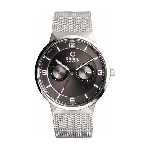 Obaku V170GMCBMC Men's Silver Quartz Watch