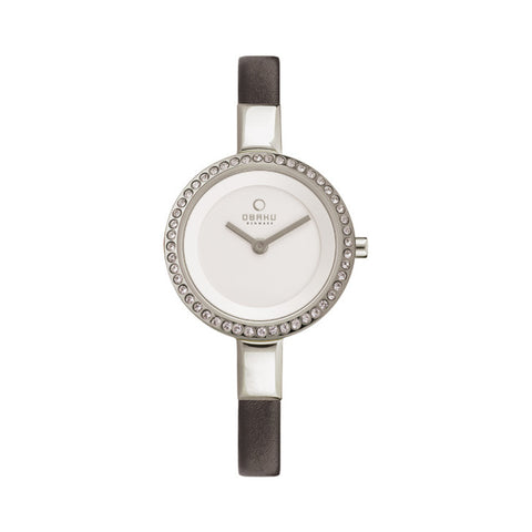 Obaku V129LECIRB Ladies Siv Leather Watch
