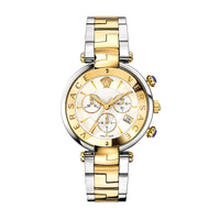 Versace Rave Ladies Two-tone Chronograph Swiss Watch - VAJ050016