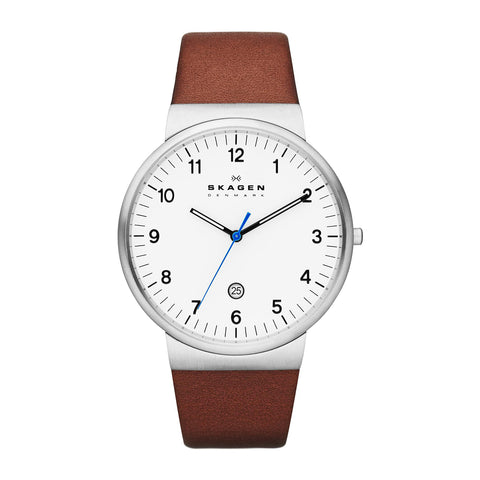 Skagen SKW6082  Men's Brown Calfskin Watch
