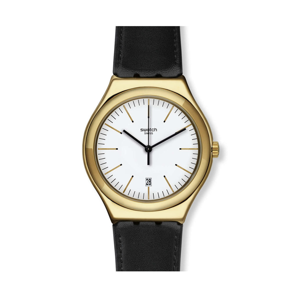 Swatch YWG404 Edgy Time Gold-tone Swiss Quartz  Men's Watch