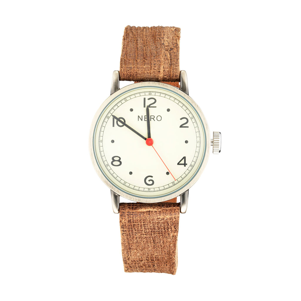Nero 103 Veneto Unisex Brown Italian Leather Watch