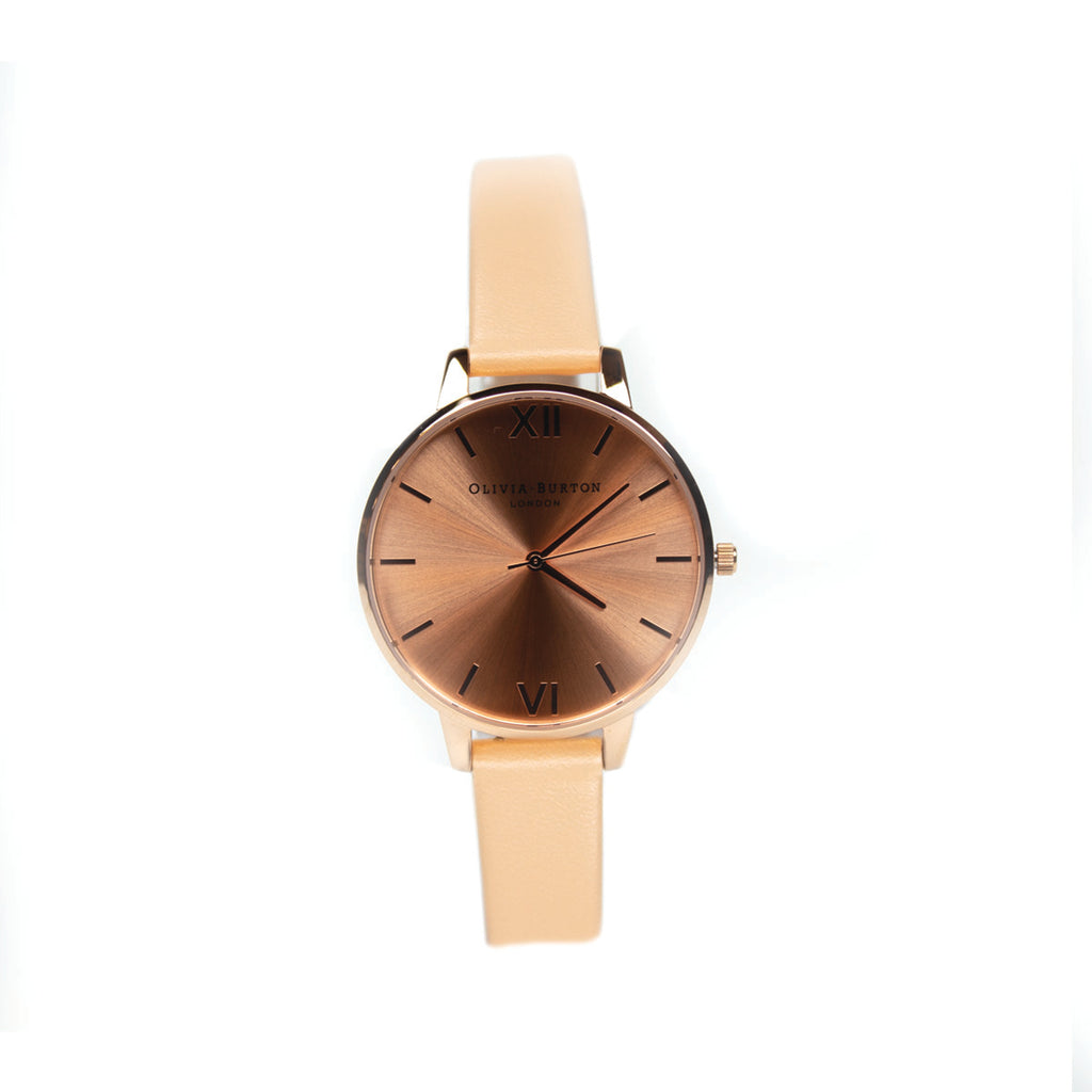 Olivia Burton OB16BD94 Ladies Big Dial Nude Peach Watch