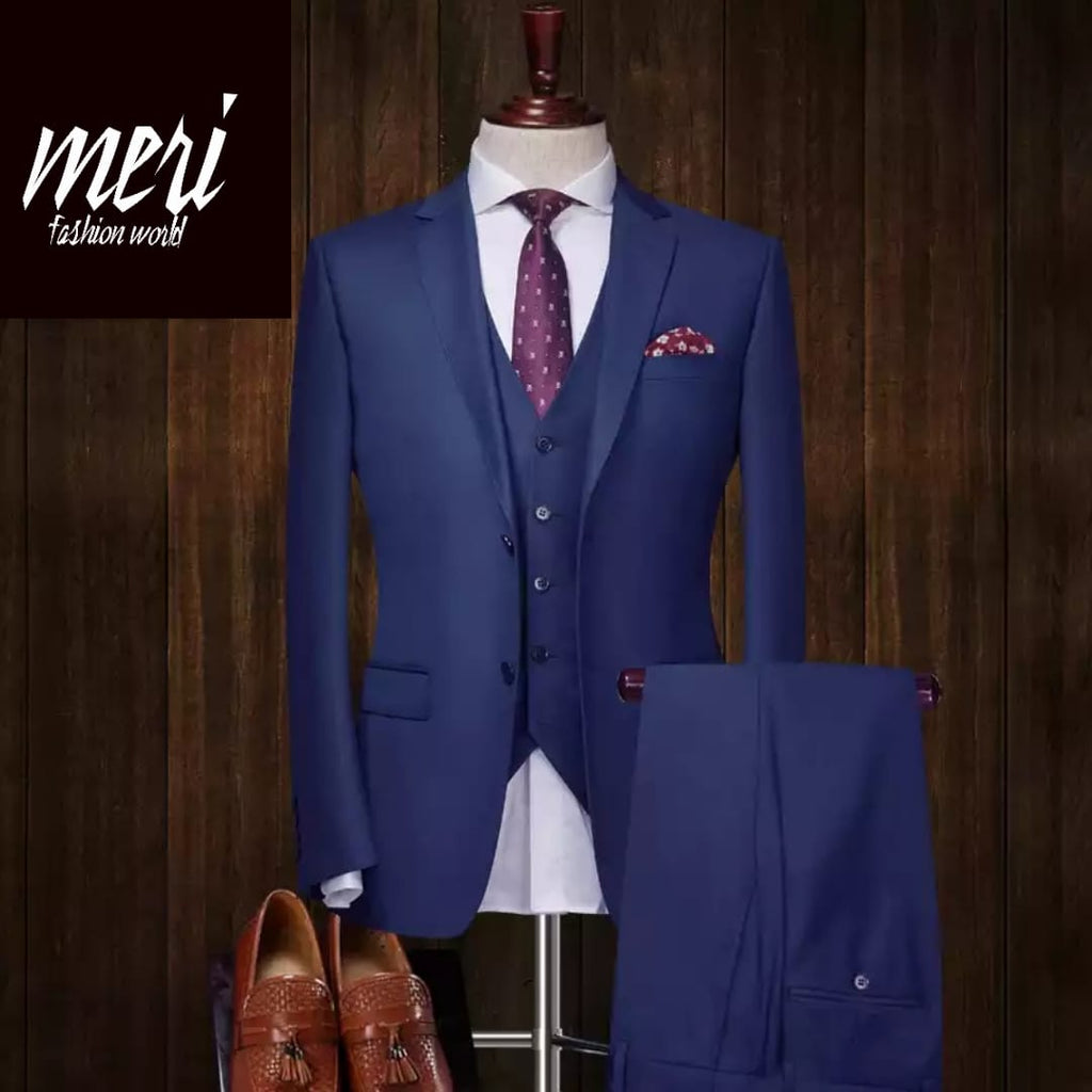 The Royal Blue -  Slim Fit  - 100% Wool   (Jacket +Pants)