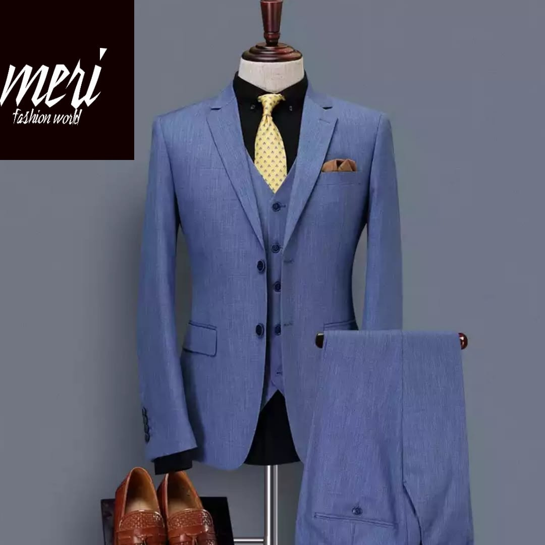The Navy King Suit -  Slim Fit - (Jacket+Vest+Pants)