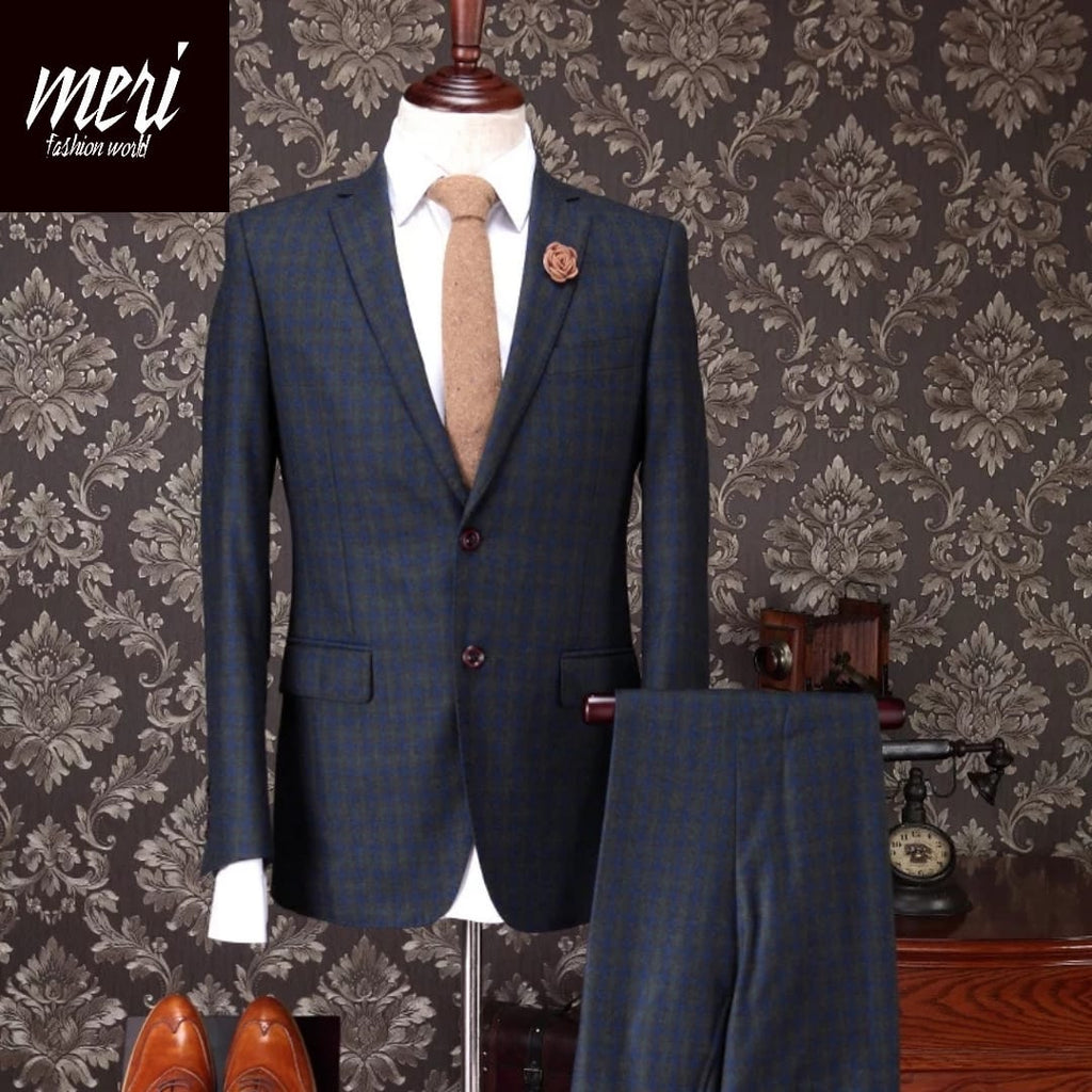 The Warm Royal -  100% Wool - Winter Suit - (Jacket+Pants+Vest)