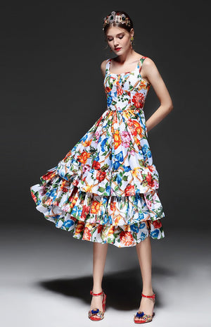 The Designer Floral - Silky Dress