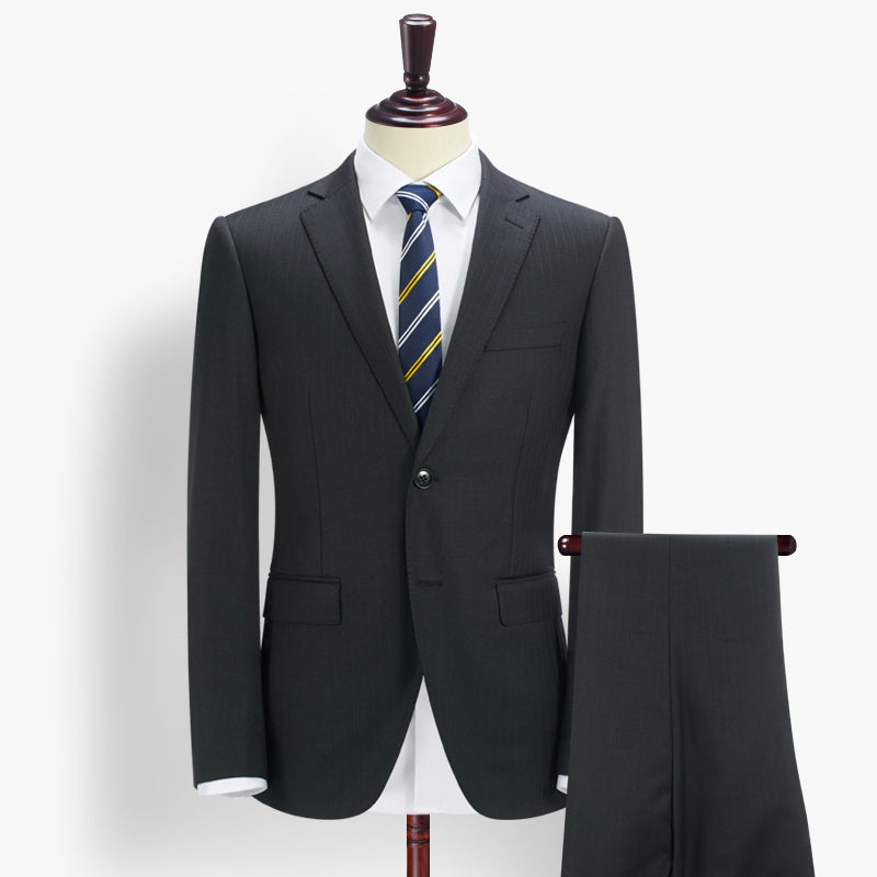 The Simple Class Gentleman Suit -  95%Wool - (Jacket +Pants)