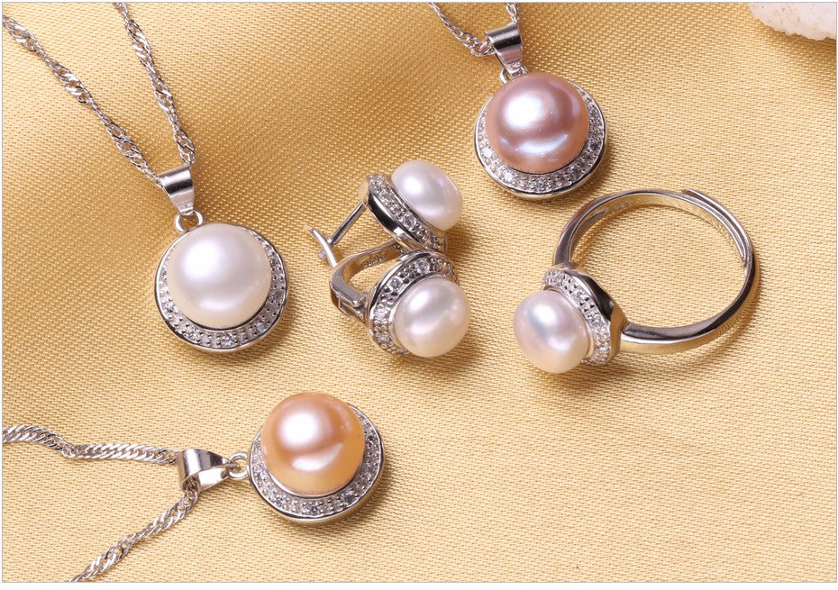 The Circle of Life Set - Pearls and Silver