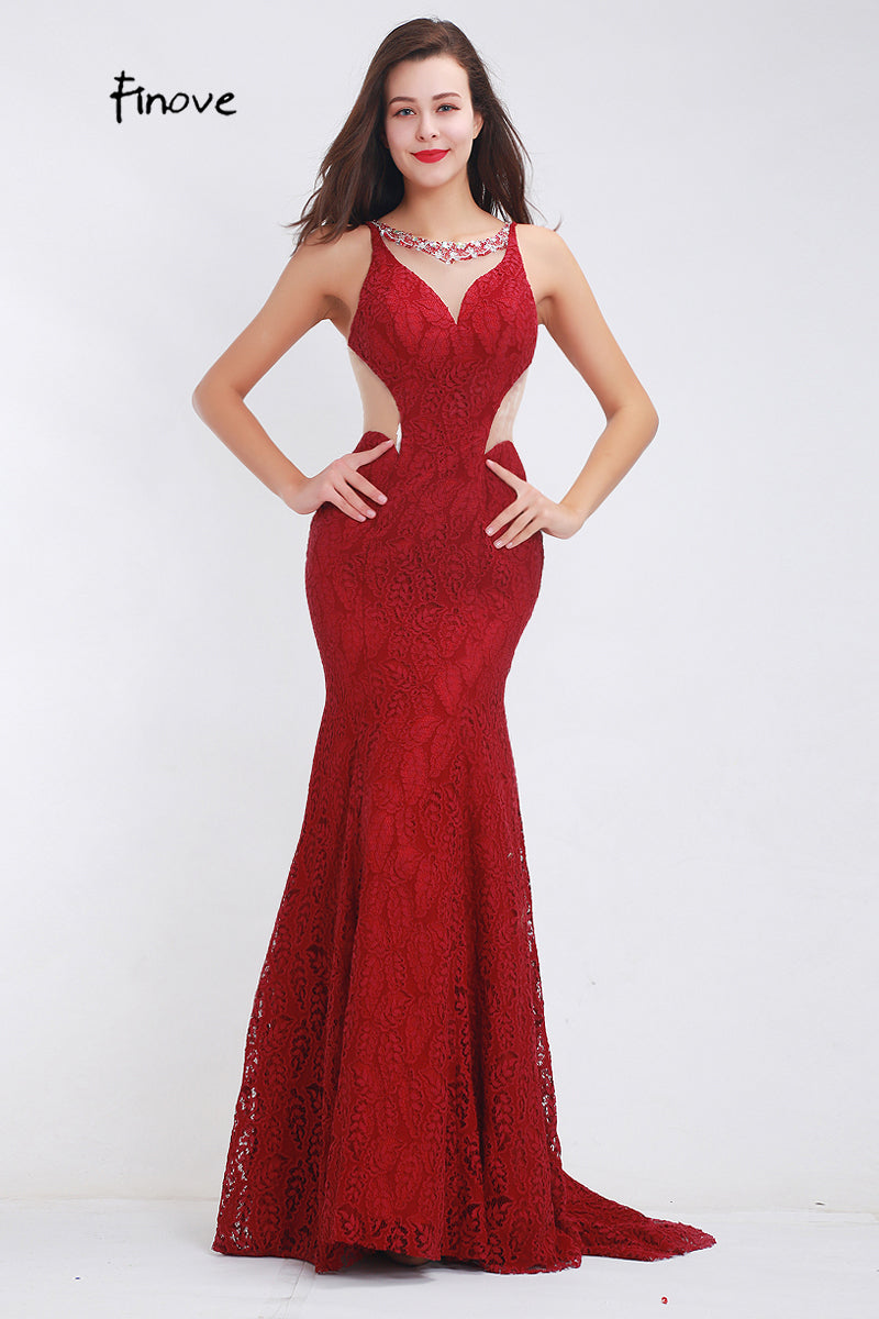 The Elegant Mermaid Dress (Red, Black and Wine Red and in all Sizes)