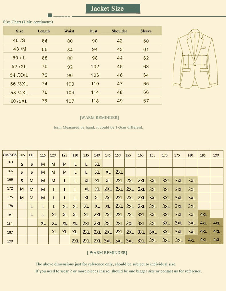 The Classic Gentleman Suit - (Jacket + Vest +Pants)- 30% Wool