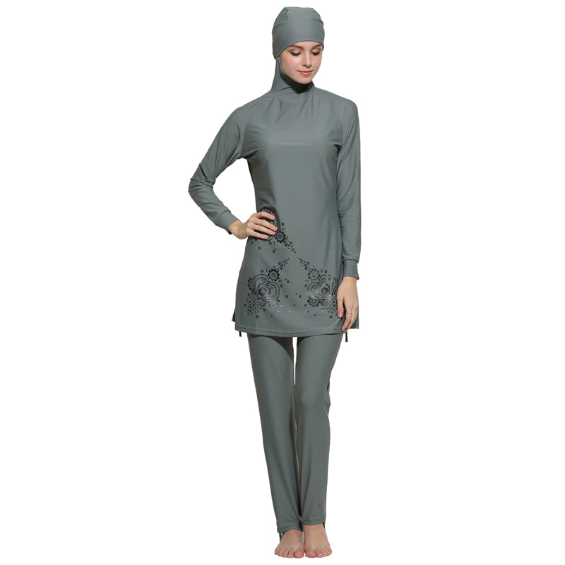 The Floral Burkini Swimsuit