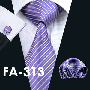 Silk Jacquard Tie and Hanky Cufflinks Set