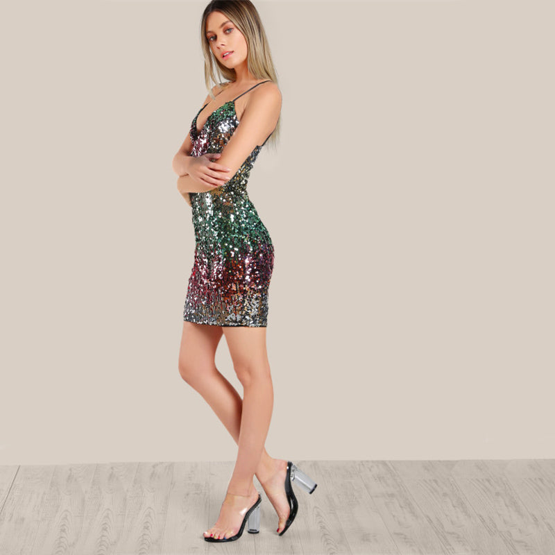 The Sleeveless Sequin Dress