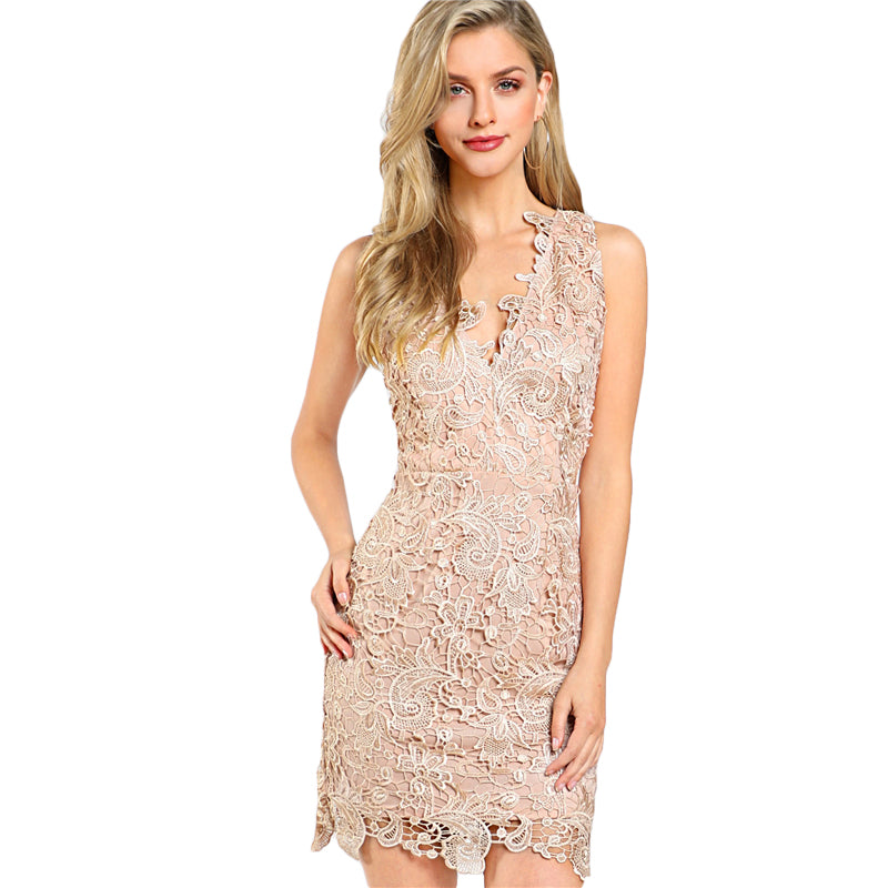 The Floral Lace Elegance Dress