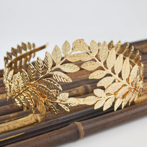 The Baroque Metal Leaves Headpiece