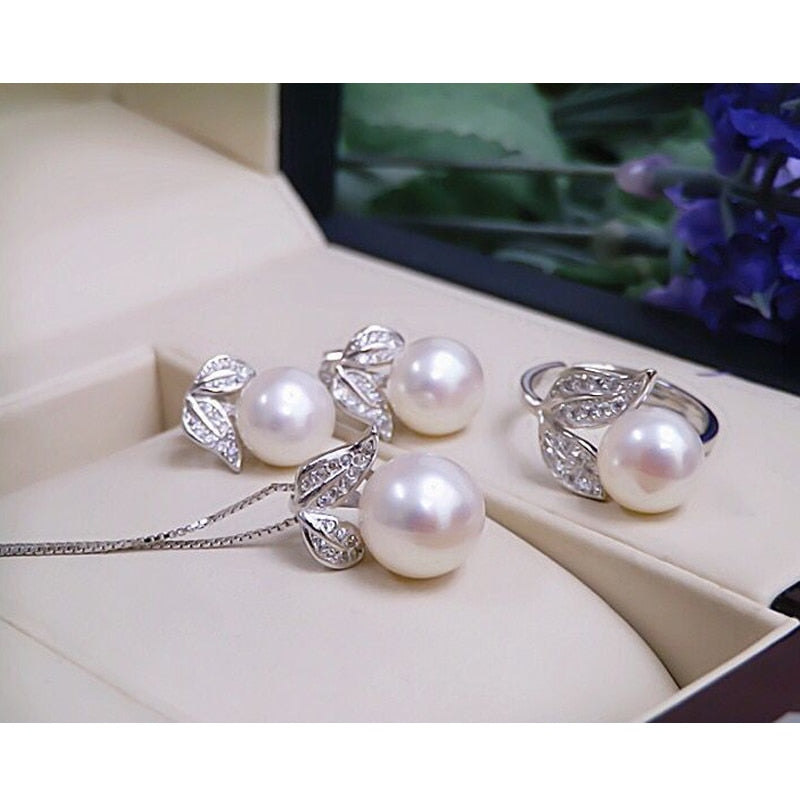The Flower Set - Pearls and Silver