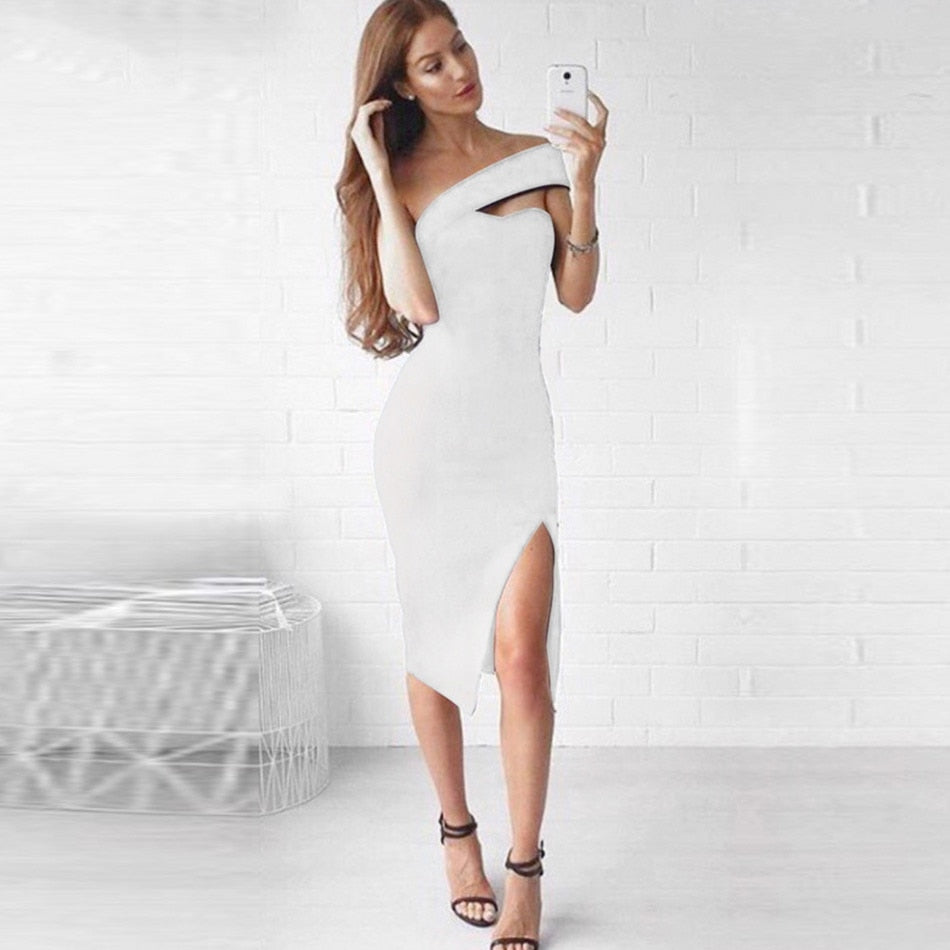 The One Shoulder Bodycon Dress