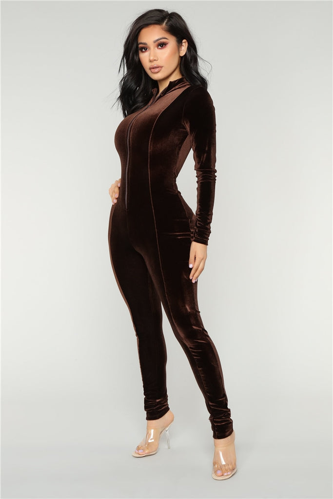 The Velvet Bodycon Jumpsuit