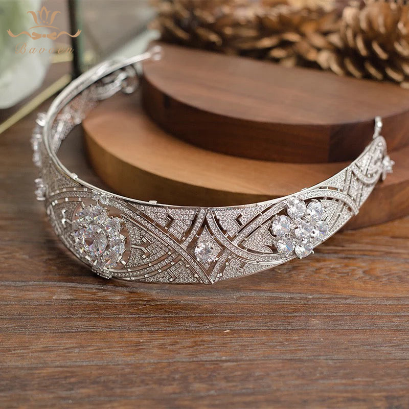 The Meghan Markel Inspired Zircon Crown Headpiece