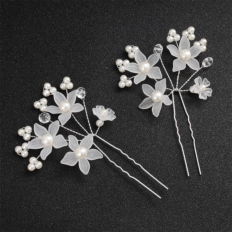The Flower Set Headpiece - (headbands + 2 hairpins)