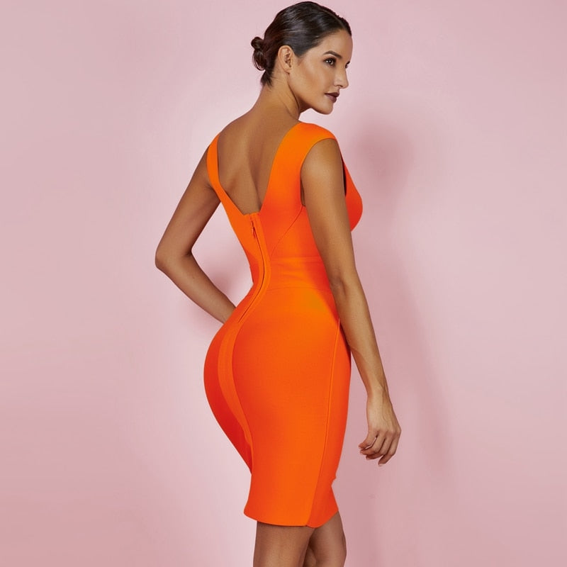 The V Neck Bodycon Dress
