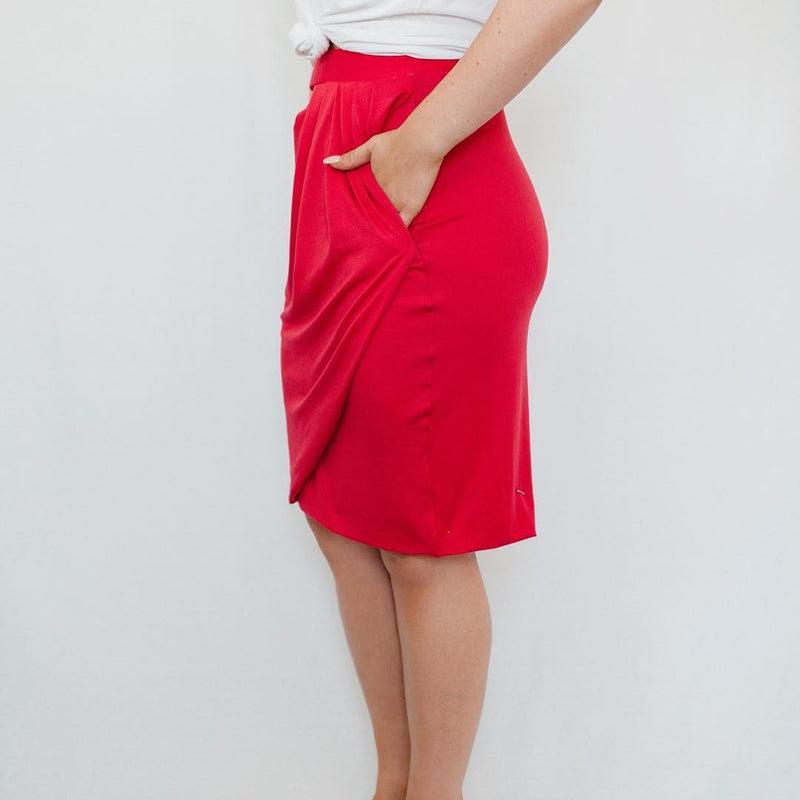 Swipe Skirt - Red