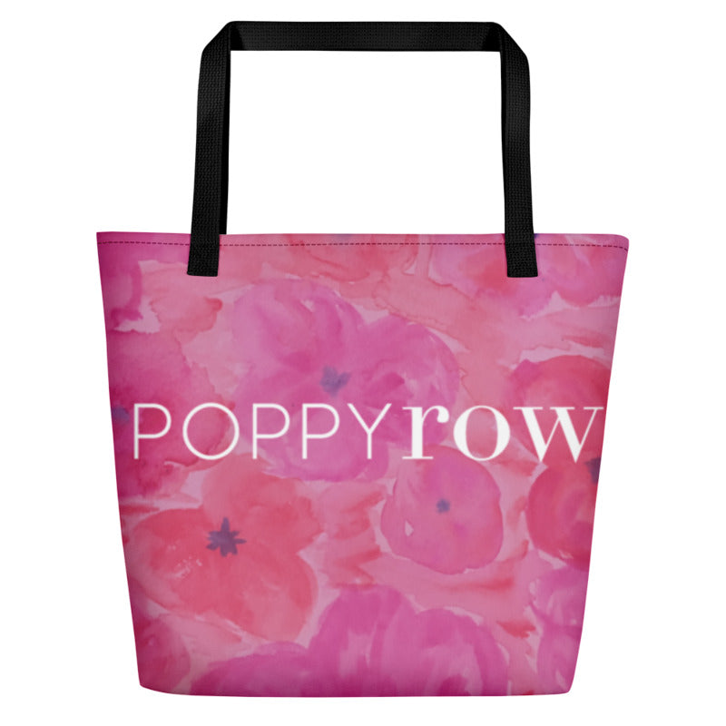 Poppy Row Beach Bag (Large)