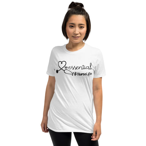 Stethoscope Heart Essential Nurse Life Unisex T-Shirt