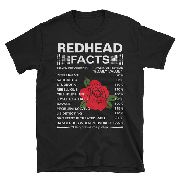 Redhead Facts Unisex T-Shirt
