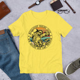 Sloth Mycologist Hiking Club We Might Not Get There Unisex T-Shirt