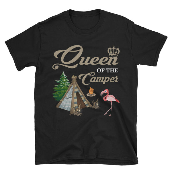 Flamingo Queen Of The Camper Unisex T-Shirt