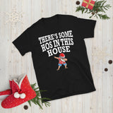 Christmas Santa Summer Style There's Some Hos In This House Unisex T-Shirt