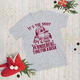 Christmas Santa It's The Most Wonderful Time For A Beer Unisex T-Shirt