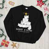 Christmas Tree Toilet Paper What A Year But We Rolled With It Unisex Sweatshirt