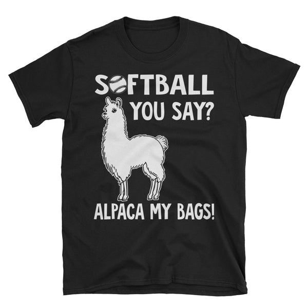 Softball You Say Alpaca My Bags Unisex T-Shirt