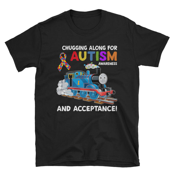 Chugging Along For Autism Awareness And Acceptance Unisex T-Shirt