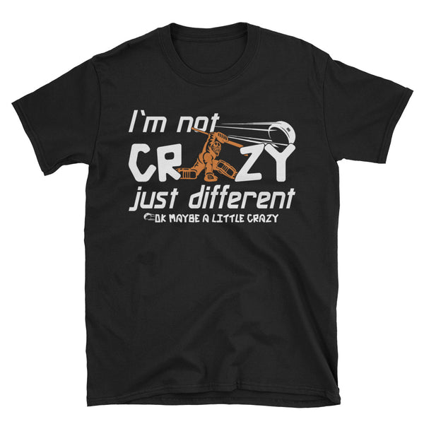 Hockey I'm Not Crazy Just Different, Ok Maybe A Little Crazy T-Shirt