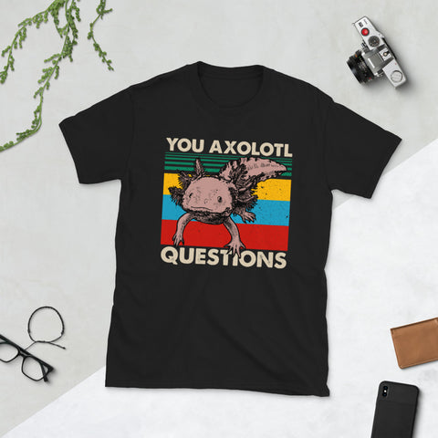 Vintage Engraving Antique Axolotl You Axolotl Questions Unisex T-Shirt