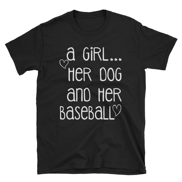 A Girl Her Dog And Her Baseball Unisex T-Shirt